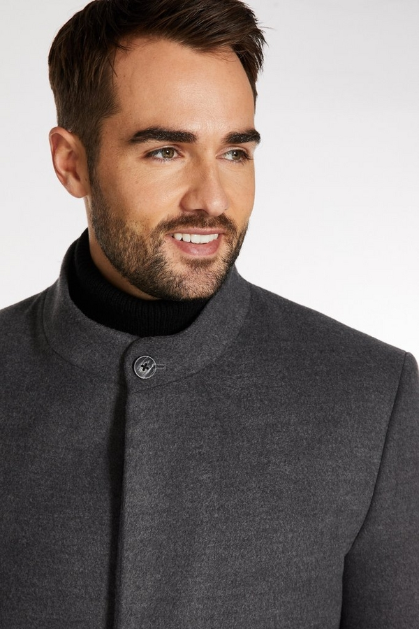 Soft Touch Funnel Neck Coat