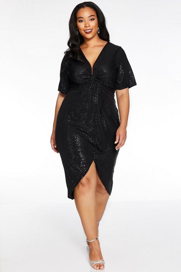 Vestido Curve Negro con Lentejuelas