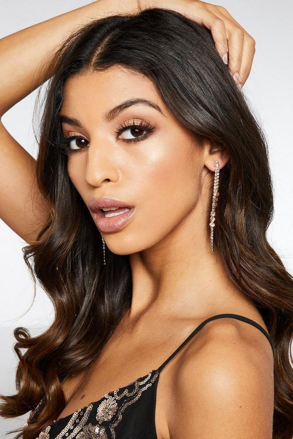 Rose Gold Double Strand Earrings