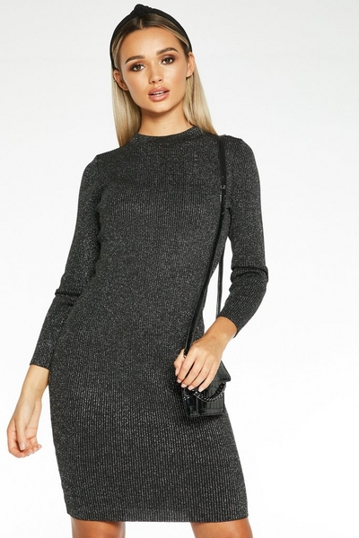 Silver Shimmer Jumper Dress