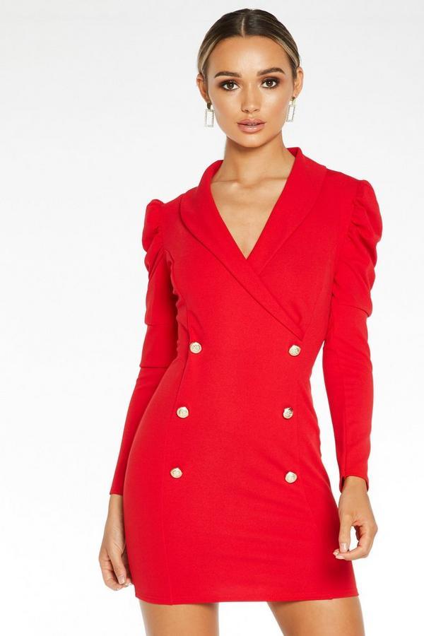 Vestido Rojo Estilo Americana