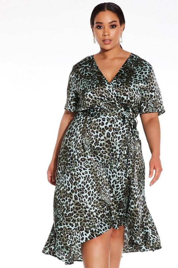 Curve Khaki Dip Hem Dress