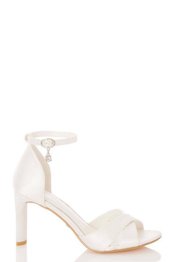 Bridal White Jewel Heeled Sandal