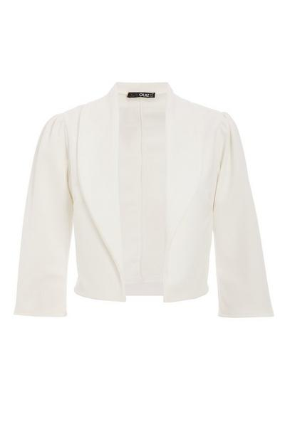 Cream Puff Sleeve Cropped Jacket