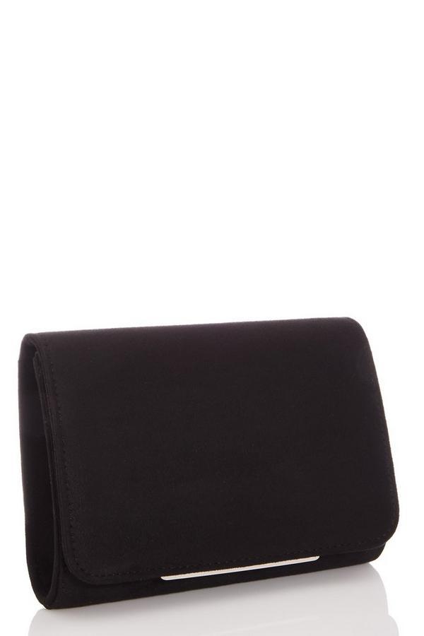 Black Faux Suede Bag