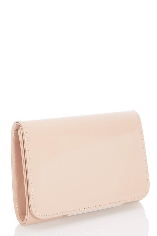 Nude Faux Leather Bag