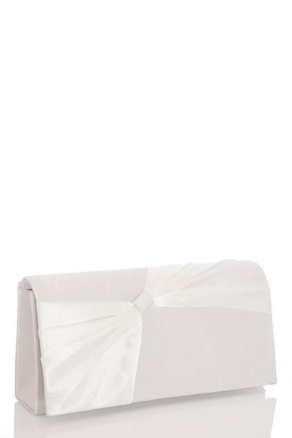 White Bow Clutch Bag
