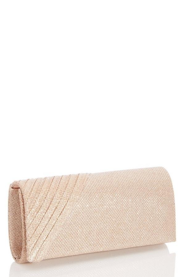 Rose Gold Shimmer Clutch Bag