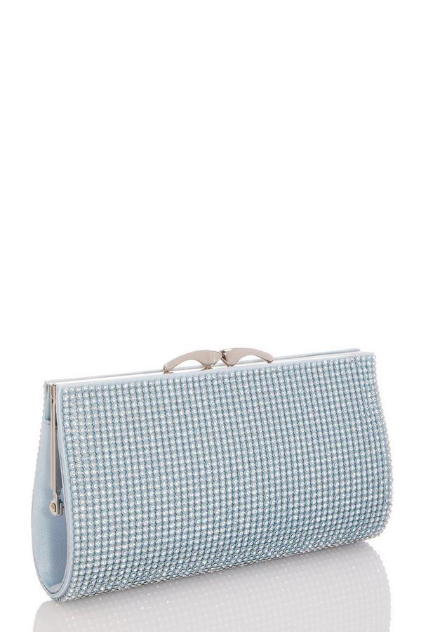 Blue Jewel Clutch Bag
