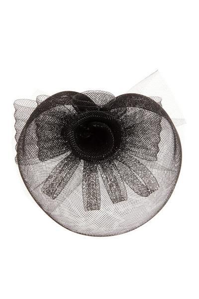 Black Small Flower Fascinator