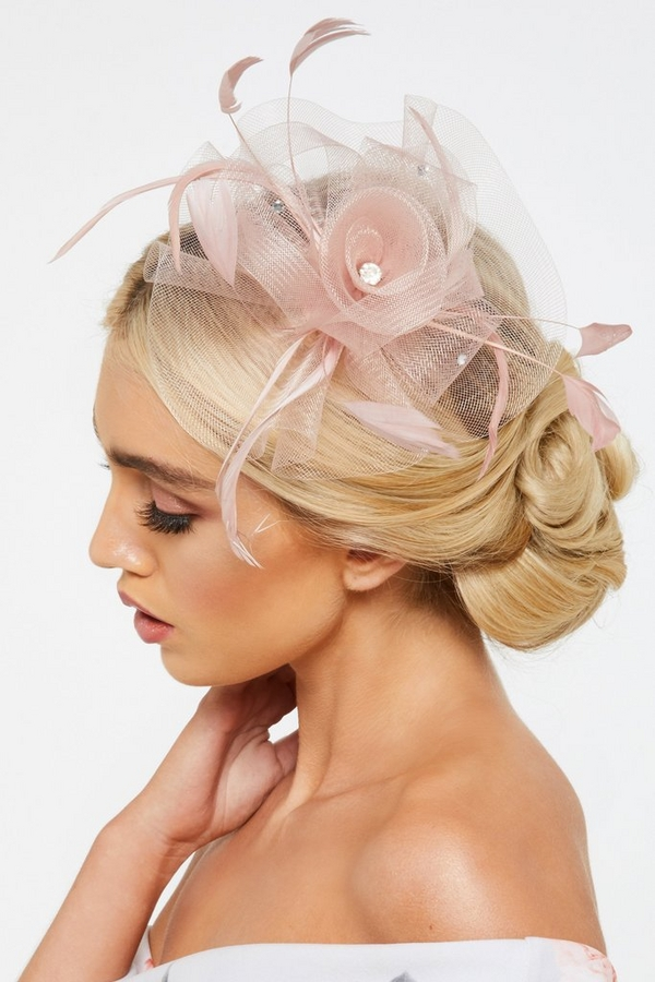 Mauve Flower Headband Fascinator