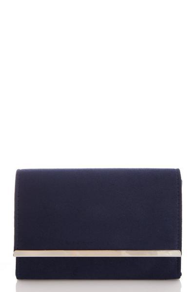 Navy Faux Suede Bag