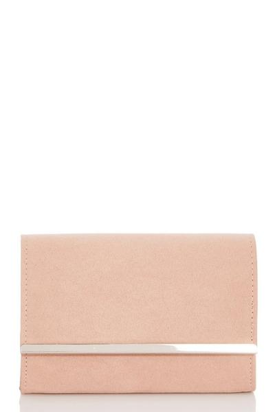 Pink Faux Suede Bag