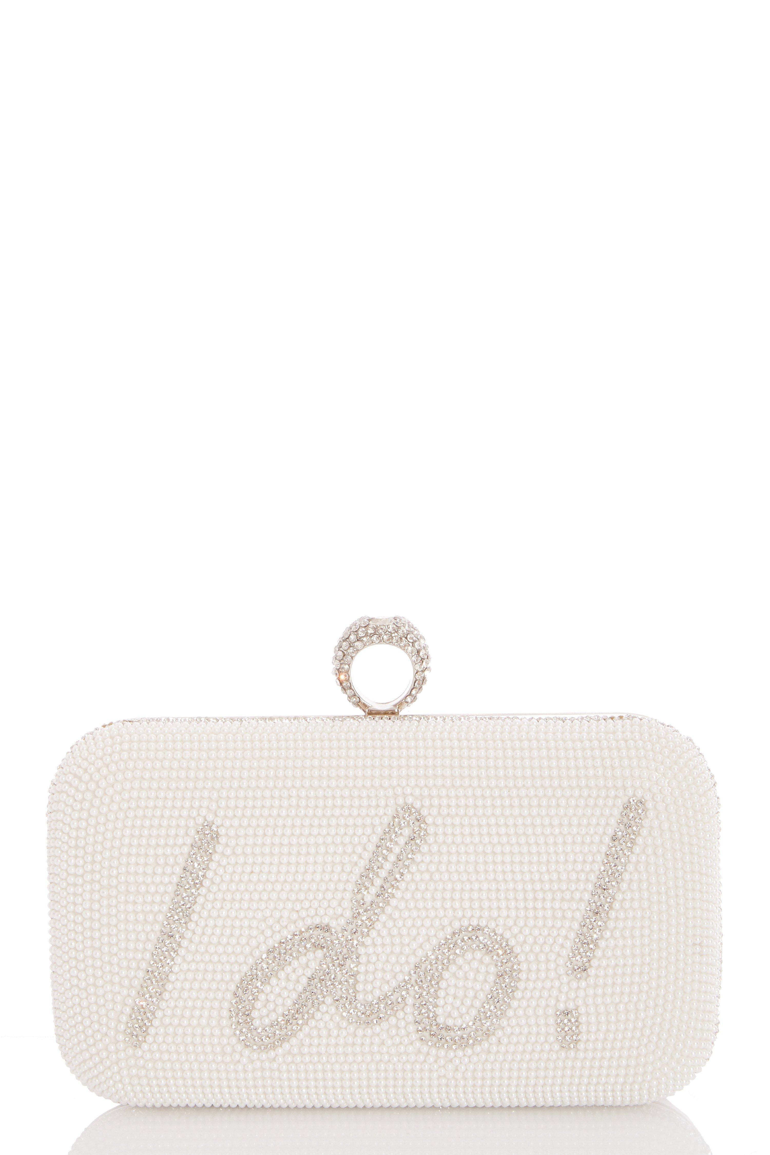 White Ring Box Bag