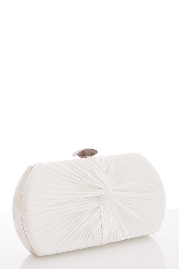 White Shimmer Box Bag