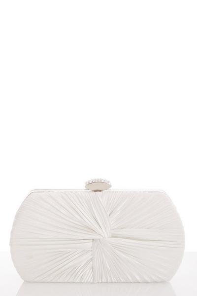 White Satin Box Bag
