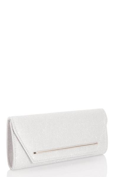 Silver Shimmer Clutch Bag