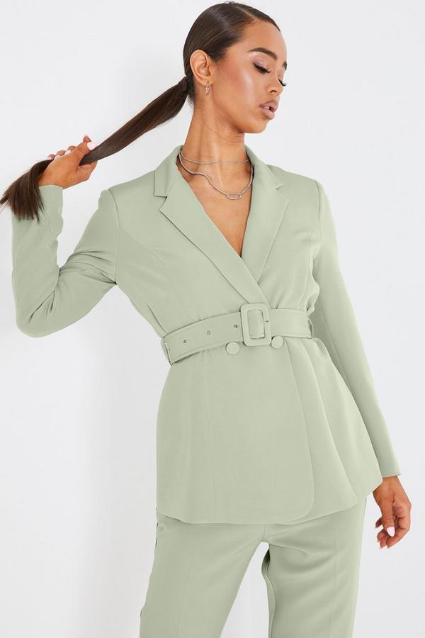 Sage Green Tailored Blazer Jacket