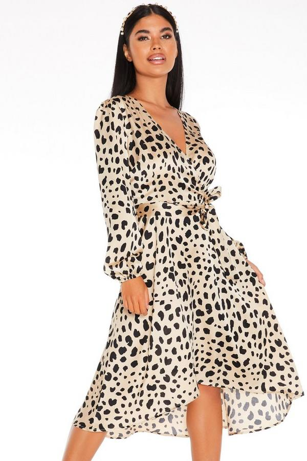 Petite Stone Animal Print Dress