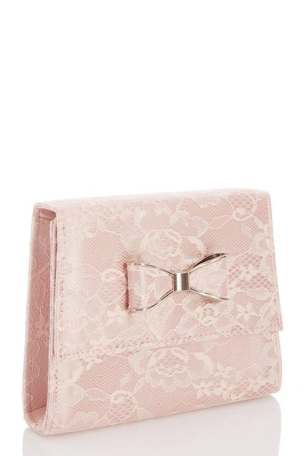 Pink Lace Bow Bag
