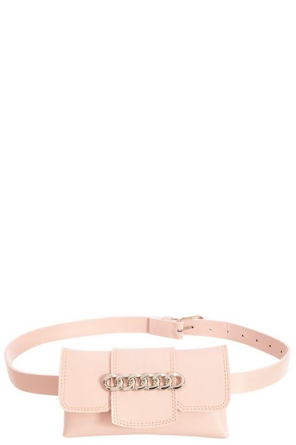Pink Chain Belt Bag