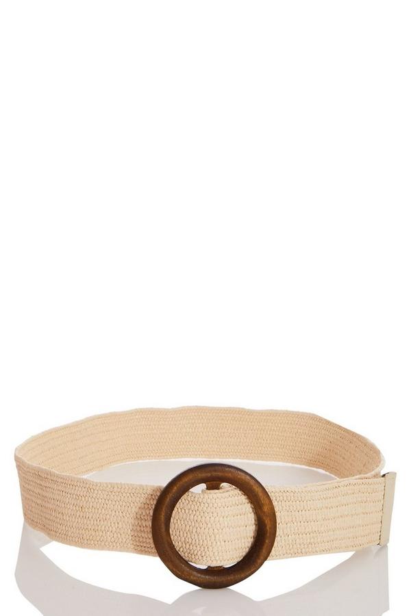 Cream Woven Belt