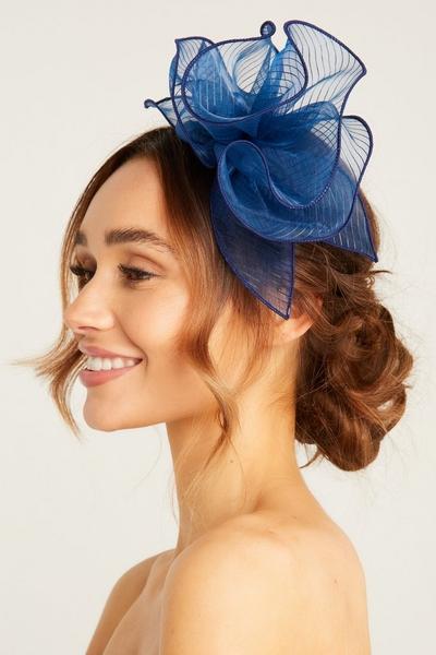Navy Headband Fascinator