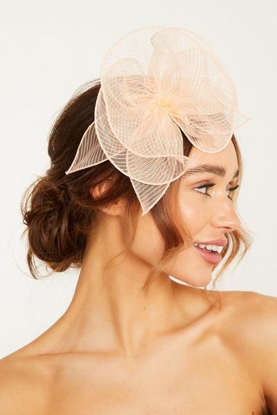 Peach Headband Fascinator