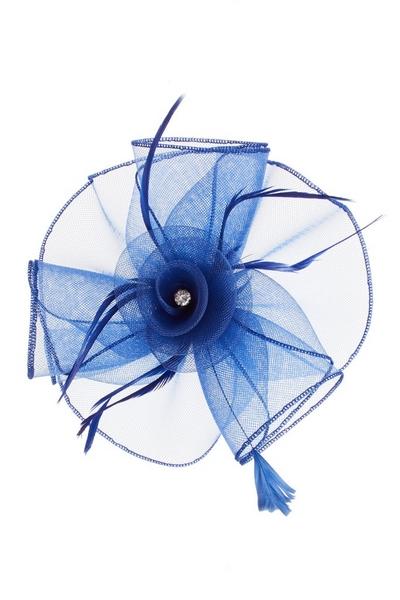 Royal Blue Jewel Flower Fascinator