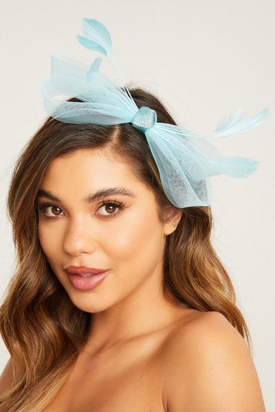 Blue Bow Headband Fascinator