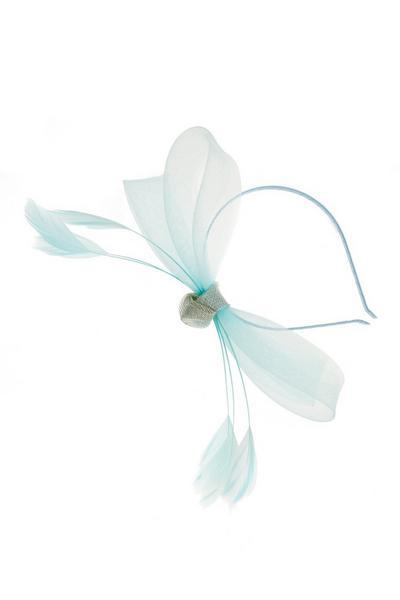 Aqua Bow Headband Fascinator