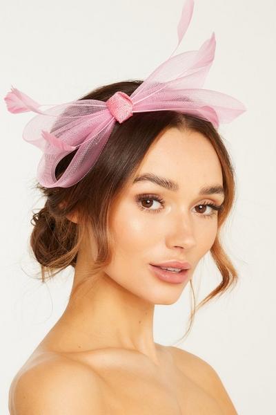 Pink Bow Headband Fascinator