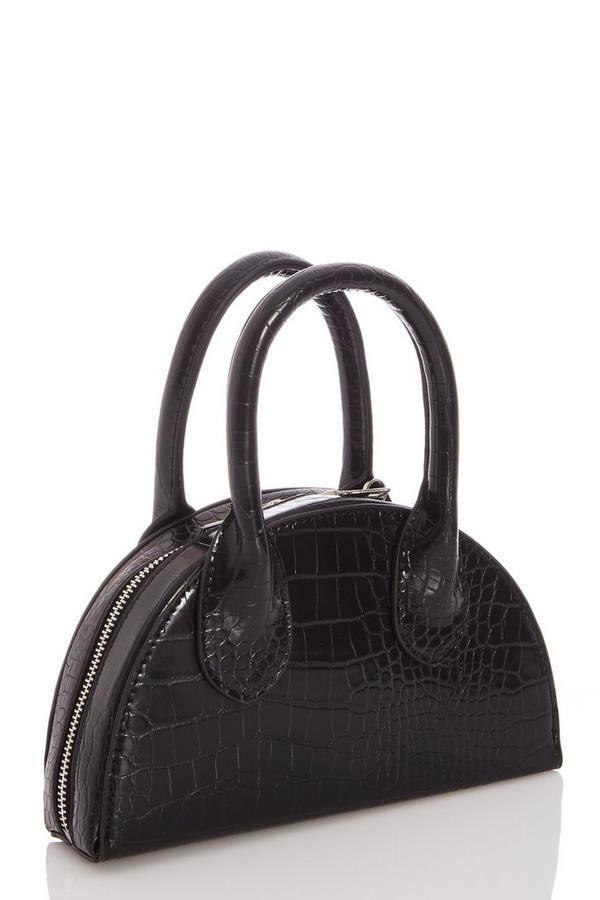 Black Crocodile Effect Bag