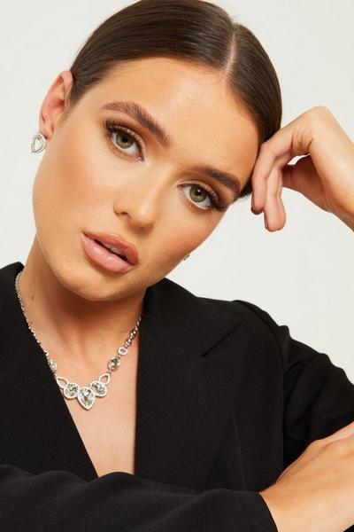 Silver Teardrop Jewellery Set