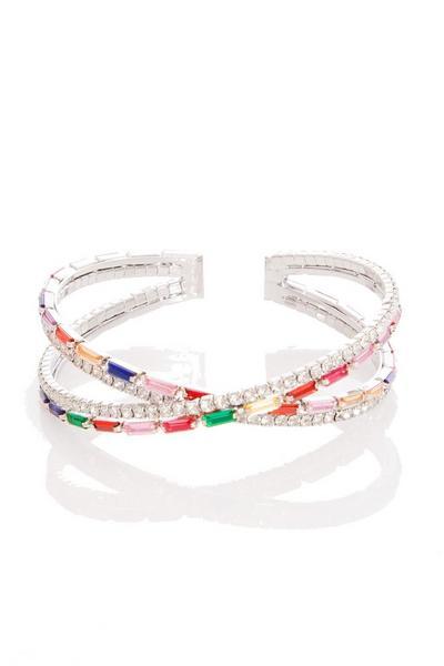 Multicoloured Jewel Cuff Bracelet