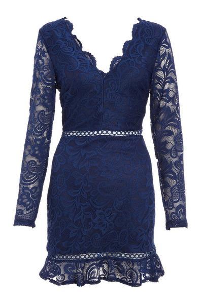 Navy Lace Bodycon Dress