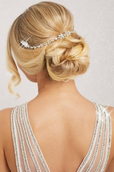 Silver Diamante Hair Piece