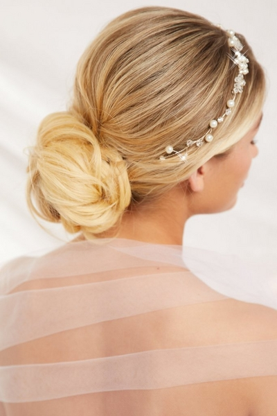 Silver Diamante Hair Ribbon