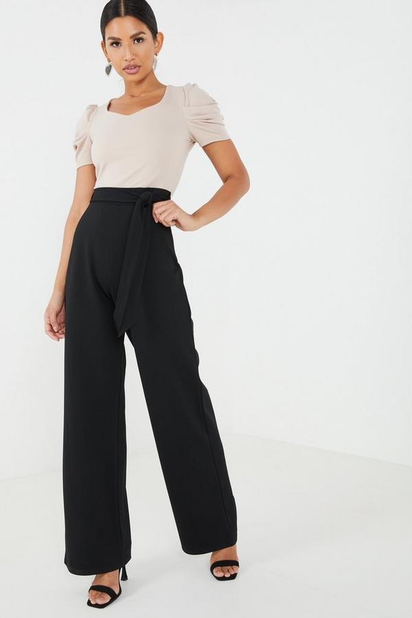 Stone Puff Sleeve Jumpsuit
