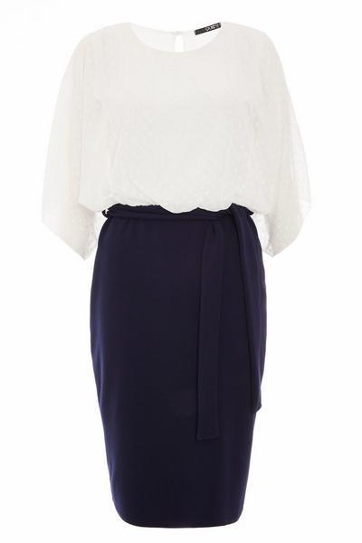 Cream Batwing Midi Dress