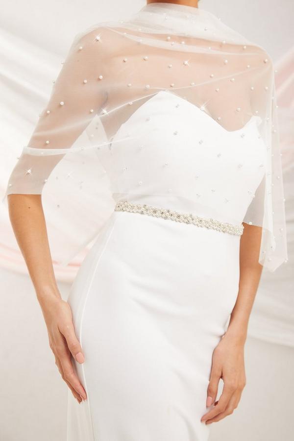 Bridal White Pearl Belt