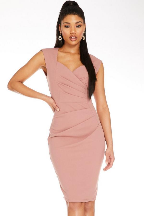Pink Sweetheart Midi Dress