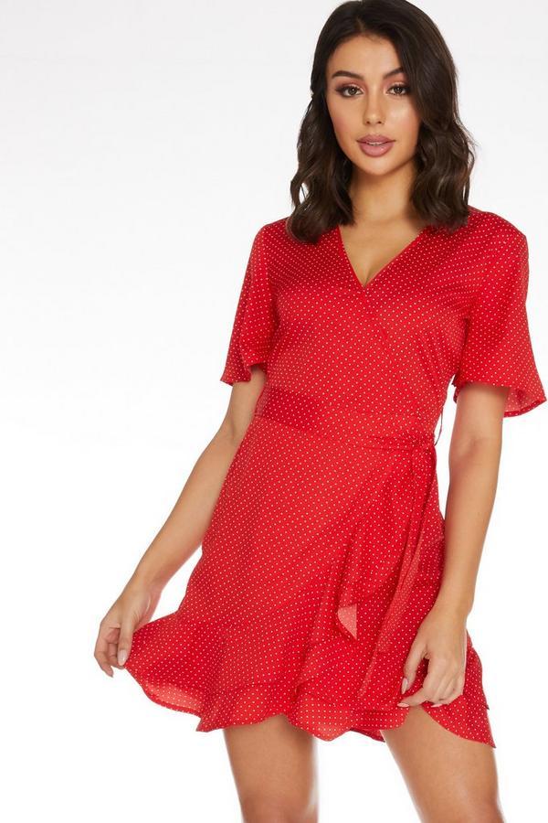 Vestido Corto Rojo de Lunares
