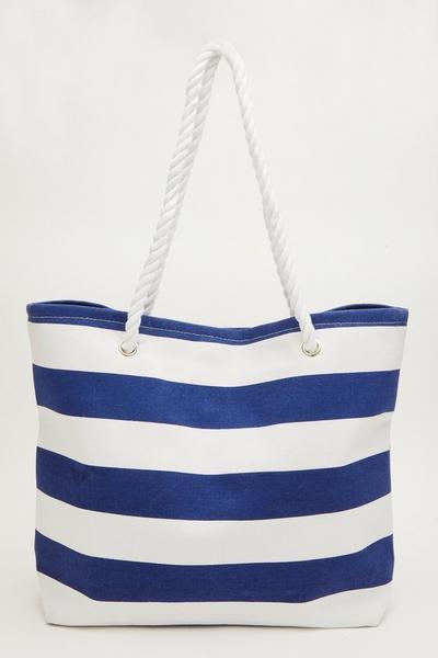 Blue Stripe Beach Bag