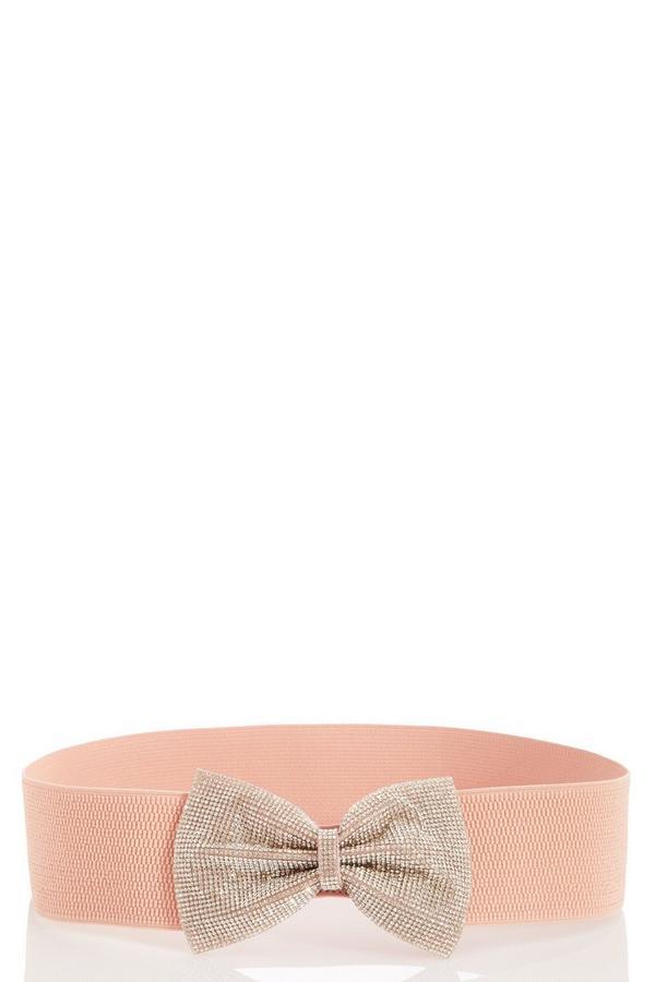 Pink Diamante Waist Belt