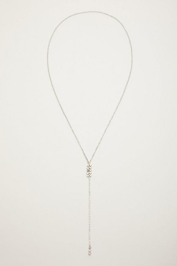 Silver Diamante Necklace