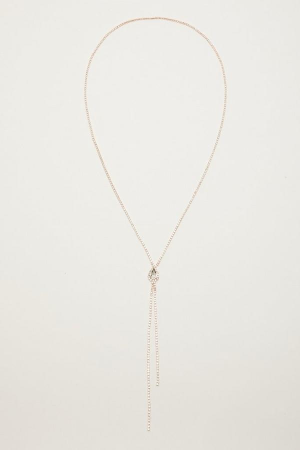 Rose Gold Diamante Necklace