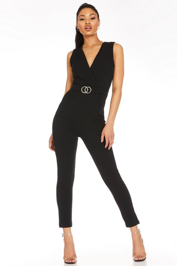 Black Buckle Jumpsuit