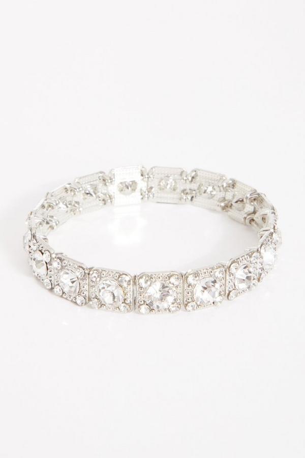Silver Diamante Stretch Bracelet