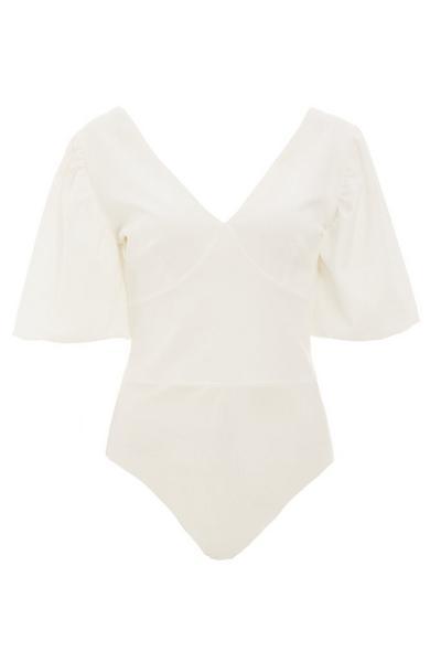 Cream Puff Sleeve Bodysuit